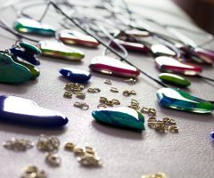 Hand crafted resin jewellery