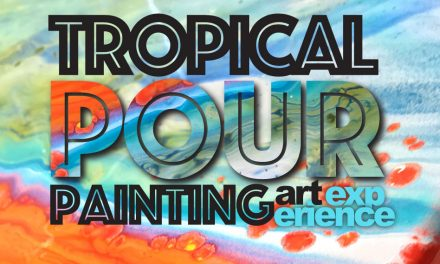 Tropical Pour Painting Art Experience